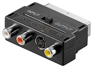 Adapter Scart do Composite Audio Video i S-Video; IN/OUT