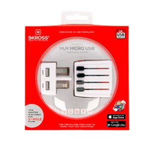 Adapter podróżny World MUV Micro USB