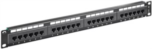 CAT 5e panel krosowy 19-calowy (48,3 cm), 24 porty