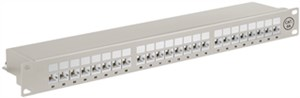 CAT 6a panel krosowy 19-calowy (48,3 cm), 24 porty